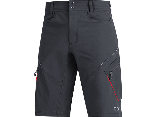 GORE WEAR C3 Trail Shorts Hombre, black/red